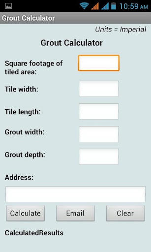 Grout Calculator