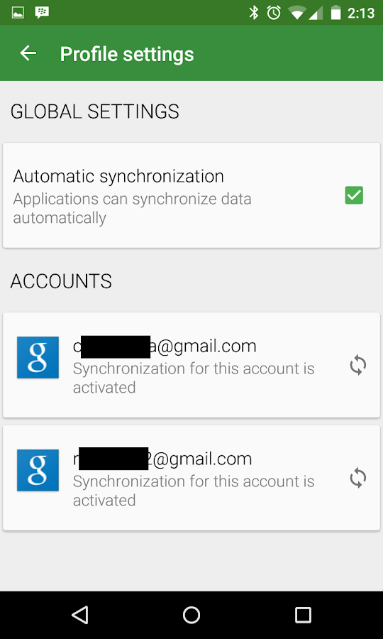 Accounts Sync Profiler- screenshot