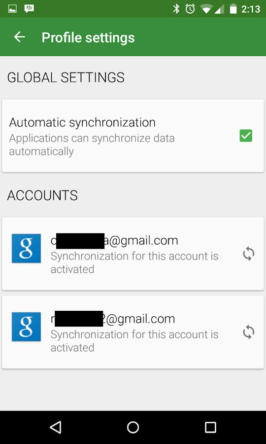 Accounts Sync Profiler - screenshot