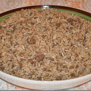 Arabic Style Rice Stuffing Recipeوصفة حشوة الرز واللحمة.
