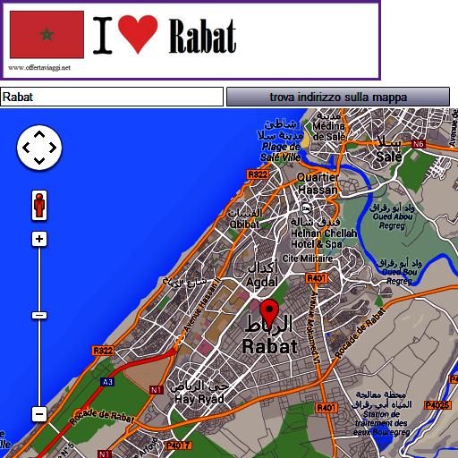 Rabat map