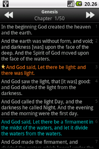 Holy Bible (KJV) Screenshot