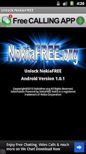Unlock NokiaFREE - screenshot thumbnail