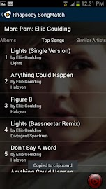 Rhapsody SongMatch Screenshot 5