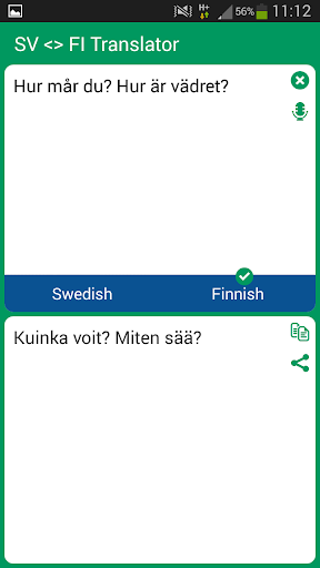 Swedish - Finnish Translator