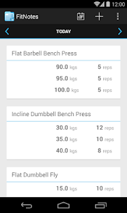 FitNotes - Gym Workout Log Screenshot