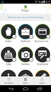 iForgot Things Reminder - screenshot thumbnail