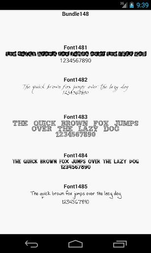 Fonts for FlipFont 148
