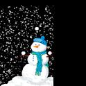 Snowman Christmas logo