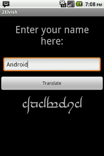 Elvish Translator - screenshot thumbnail