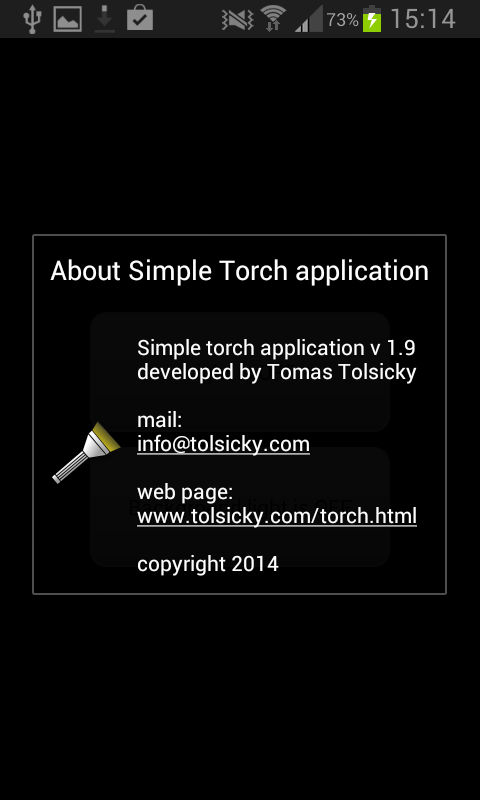 Simple torch - screenshot