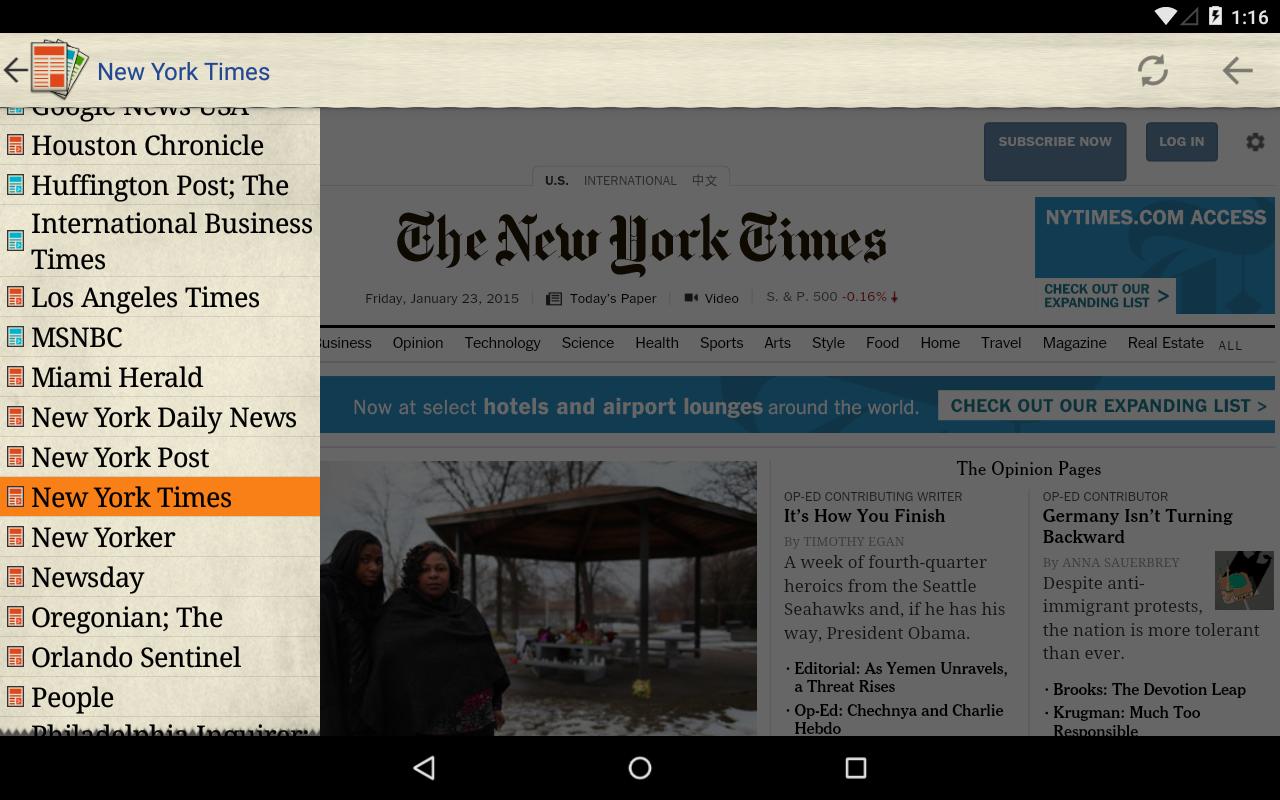 US Newspapers - screenshot