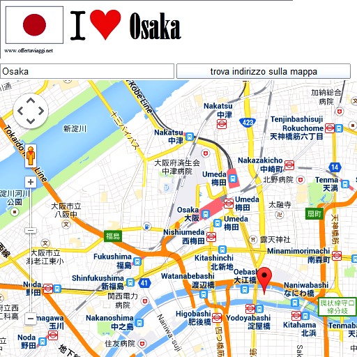 Osaka maps