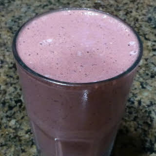 Chocolate Almond Berry Butter Smoothie.