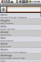 Screenshot of BKS Bible Names Glossary