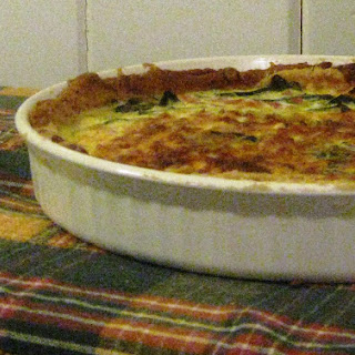 Gluten-free Quiche With Collard Greens, Ham And Leeks.