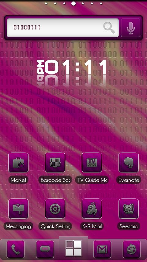 ADW Theme BinaryPink - screenshot