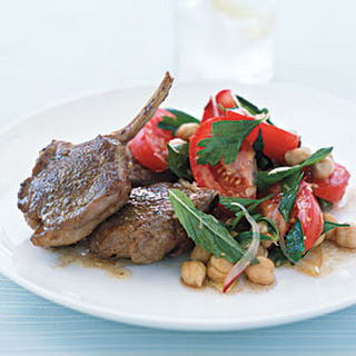 Spiced Lamb Chops with Chickpea Salad.