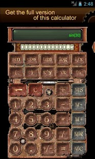 Steampunk Calculator Lite HD- screenshot thumbnail