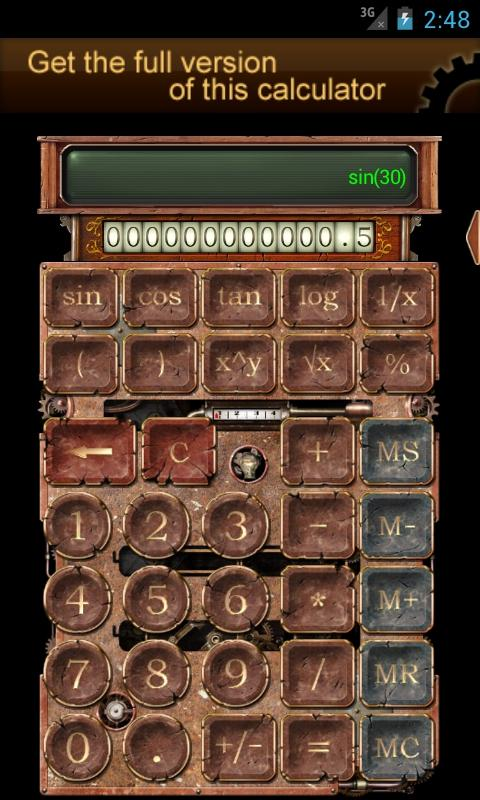 Steampunk Calculator Lite HD- screenshot