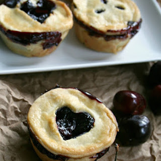 Mini Dark Sweet Cherry Pies
