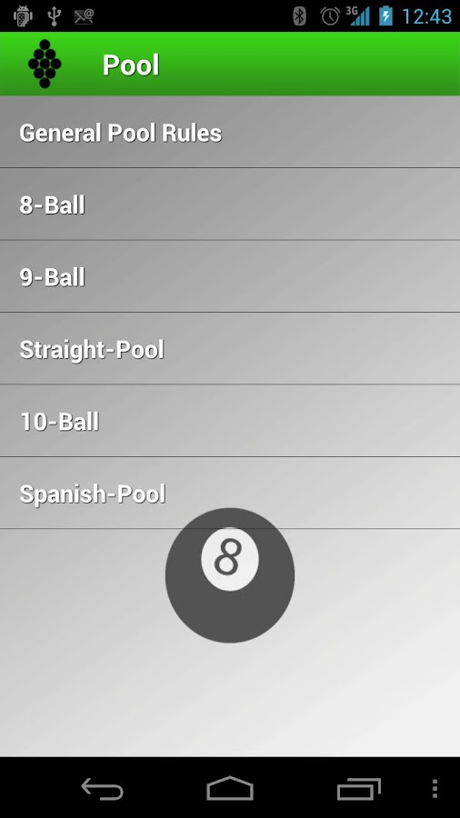 Billiard Rules - screenshot