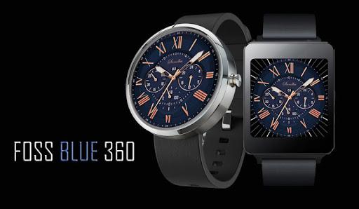 Foss Blue WatchFace - Moto 360