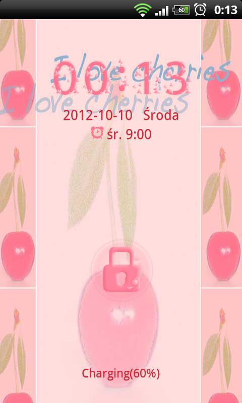 GO Locker Theme Cherries - screenshot