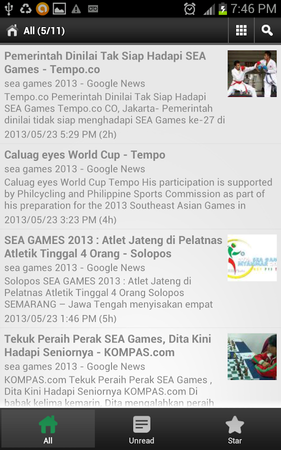 SEA Games News Score Updates - screenshot