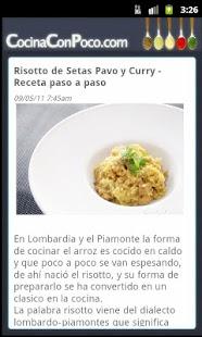 Cocina Con Poco- screenshot thumbnail