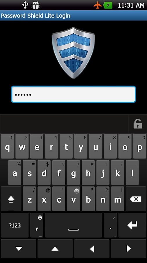Password Shield Lite - screenshot