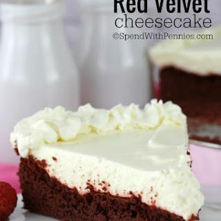 Easy Red Velvet Cheesecake.