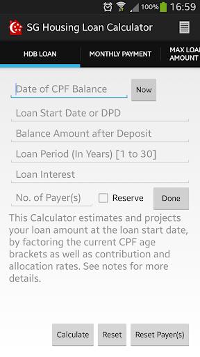 SG Housing Loan Calculator SE