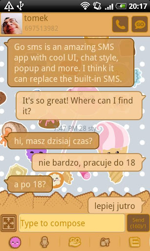 GO SMS Pro Candy Theme
