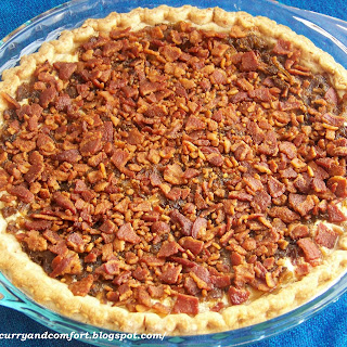 Caramelized Onion and Bacon Pie.