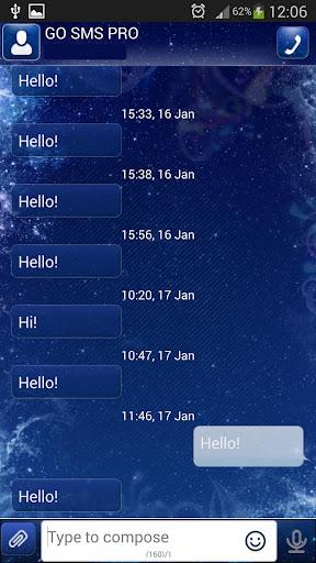 GO SMSプロブルースパークル