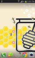 Screenshot of Honey Bees Live Wallpaper Free