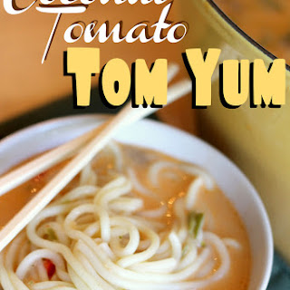 Quickie Coconut Tomato Tom Yum Soup.