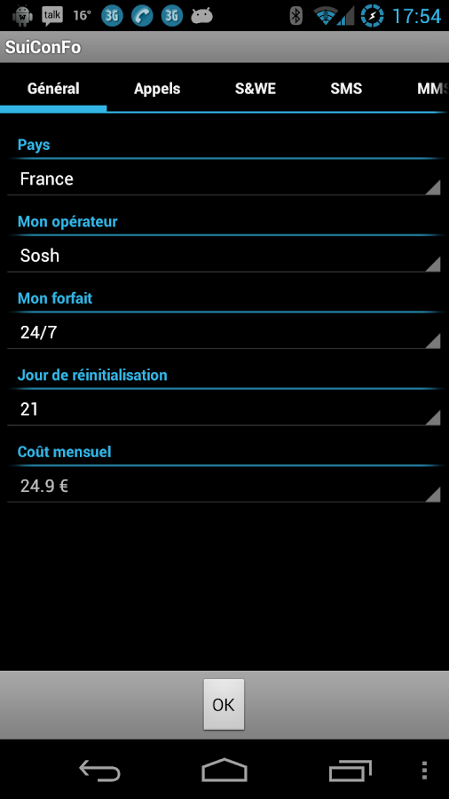 Track your plan - screenshot