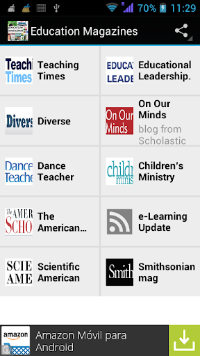 Education Magazines RSS reader