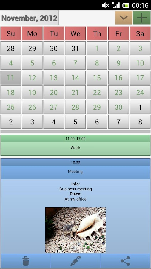 Easy Calendar - screenshot