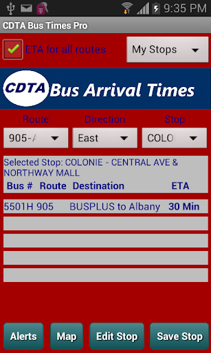 Bus Times Pro - CDTA Albany
