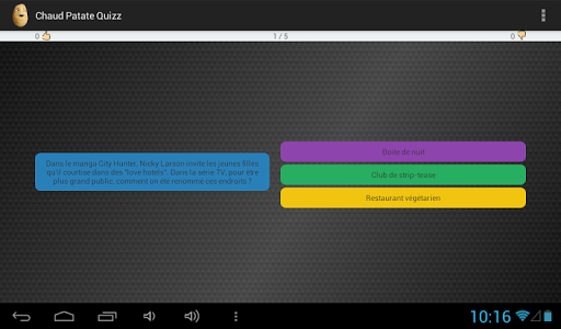 【免費益智App】Chaud Patate Quizz-APP點子
