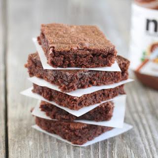 Easiest Nutella Brownies.