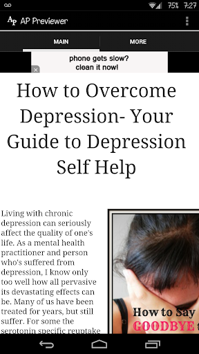 Guide to Depression Self Help