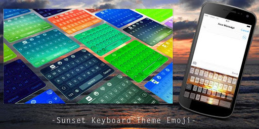 Sunset Keyboard Theme Emoji