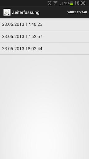 NFC Zeiterfassung