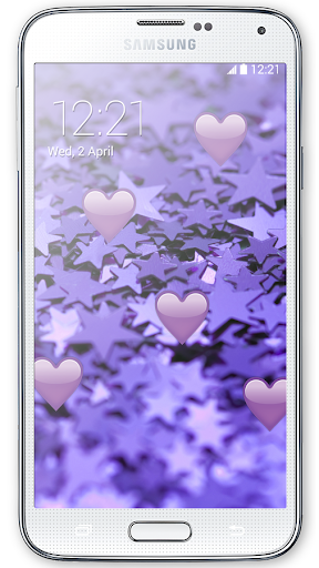 Purple Hearts Live Wallpaper