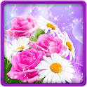 Glitter Flowers Live Wallpaper icon