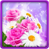 App Glitter Flowers Live Wallpaper APK for Windows Phone